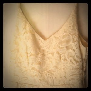 Ivory lace H &M summer dress Sz 6